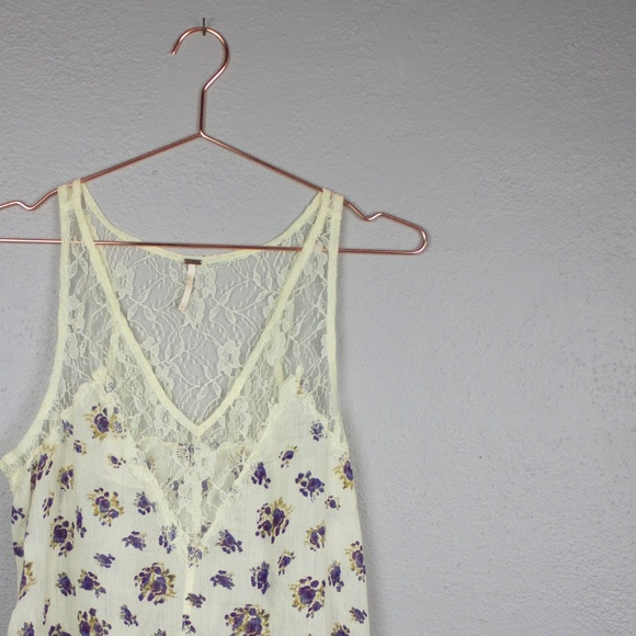 Free People Tops - Free People Lace and Floral Trapeze Tank top